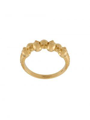 Кольцо с черепами - желтое Northskull