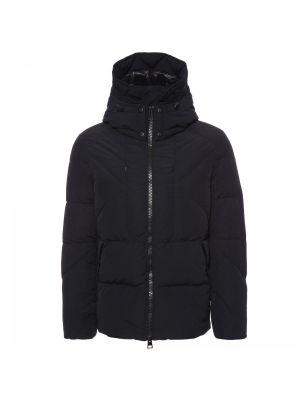 Черная текстильная куртка Fabi