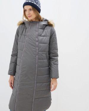 Утепленная куртка - серая мамуля красотуля ..в ожидании чуда