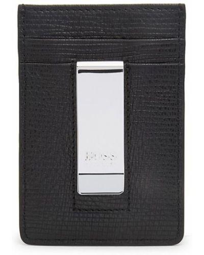 Черная кожаная ключница с подкладкой Boss Hugo Boss