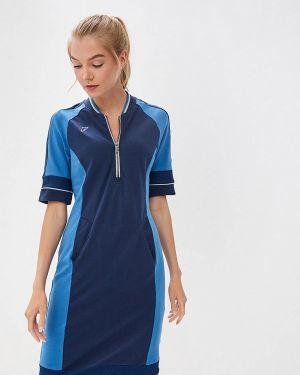 Платье футболка синее Forward