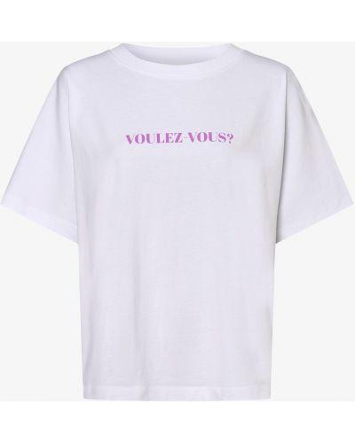 Biały t-shirt z printem Essentiel Antwerp