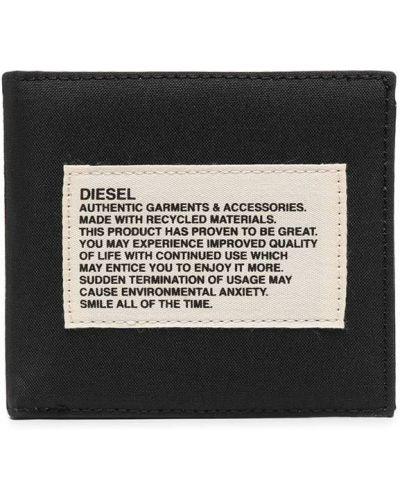 Черный кошелек с нашивками Diesel