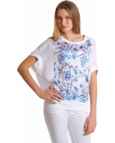 Белая блузка хлопковая Armani Jeans