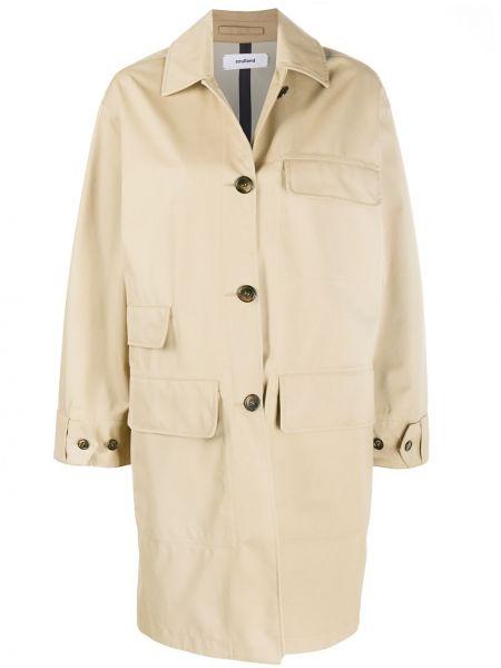 Однобортное пальто с воротником на пуговицах с карманами Soulland