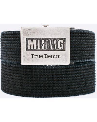 Черный ремень текстильный Mustang