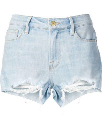 Джинсовые шорты с заниженной талией синий Frame