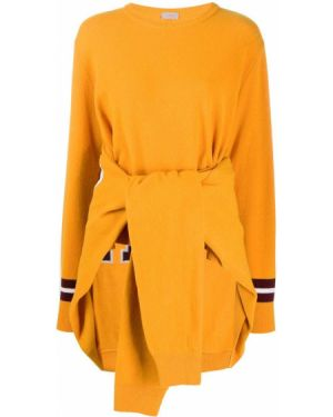 Шерстяной горчичный свитер с длинными рукавами Mrz