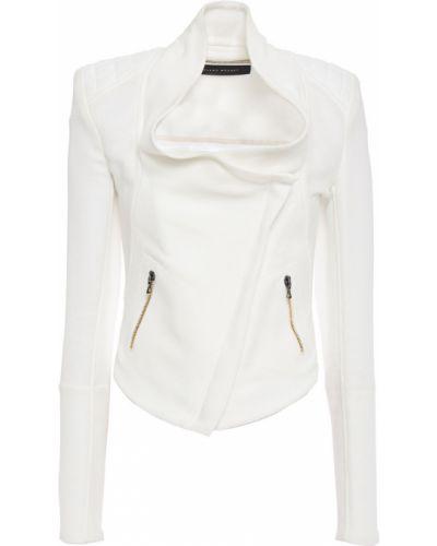 Белая стеганая куртка байкерская Roland Mouret