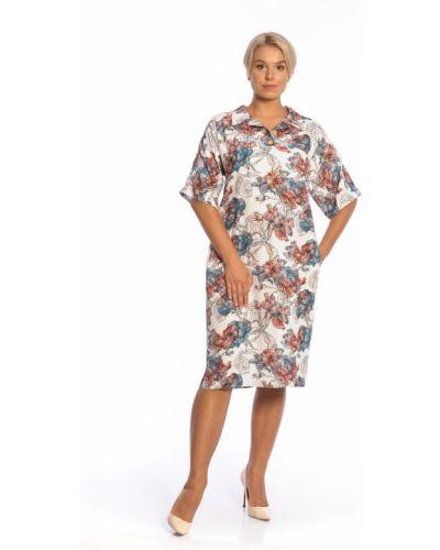 Летнее платье на пуговицах с отложным воротником Merlis