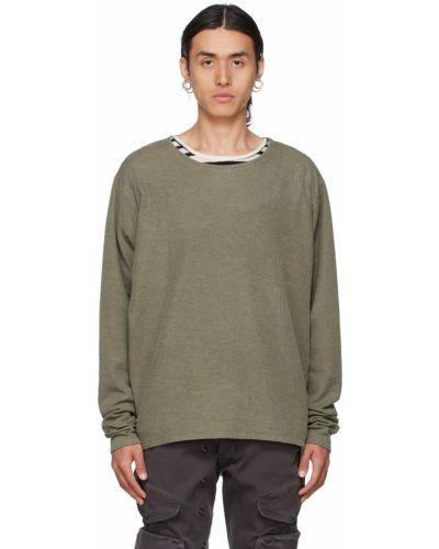 Bluza bawełniana khaki Greg Lauren