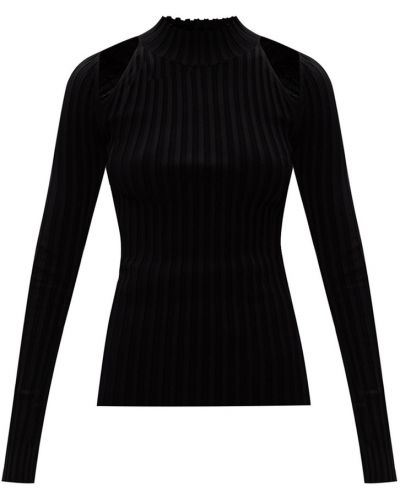 Sweter ze stójką - czarny Helmut Lang