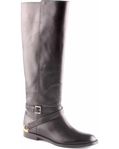Кожаные сапоги - черные Fratelli Rossetti