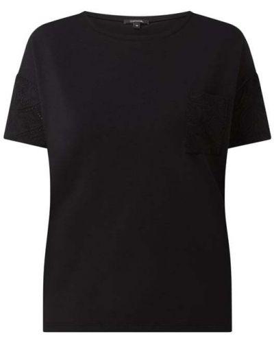 Bluzka z haftem - czarna Comma