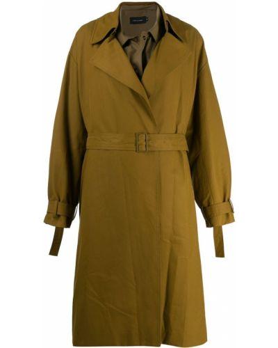 Коралловое пальто классическое с воротником с поясом Low Classic