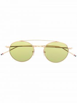 Żółte złote okulary Thom Browne Eyewear