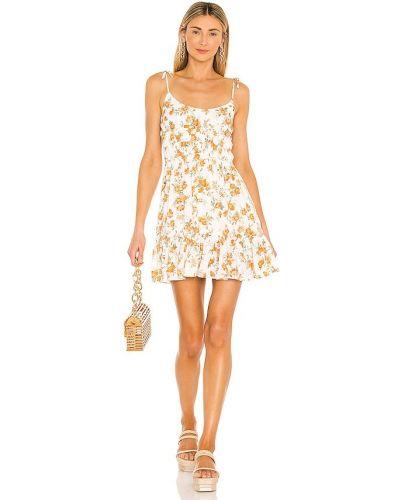 Белое платье мини бохо в полоску Minkpink