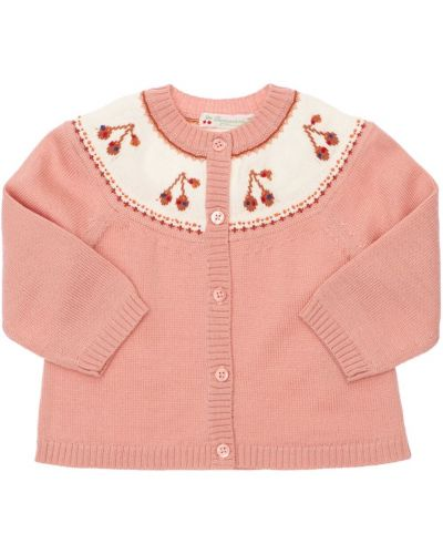 Кардиган на пуговицах - розовый Bonpoint