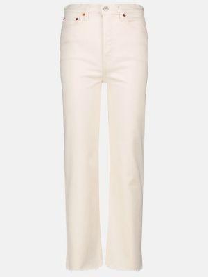 Białe jeansy bawełniane Re/done