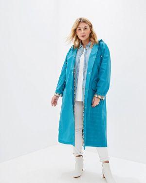 Плащ - бирюзовый авантюра Plus Size Fashion