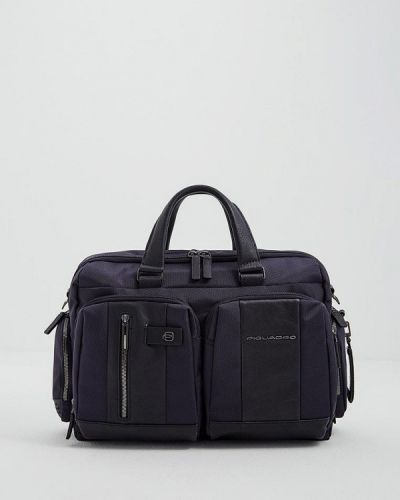 Синяя сумка нейлоновая Piquadro