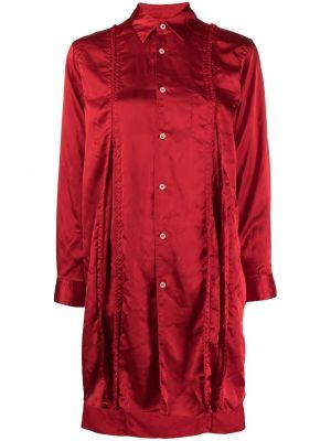 С рукавами красная классическая рубашка с воротником Comme Des Garçons Comme Des Garçons