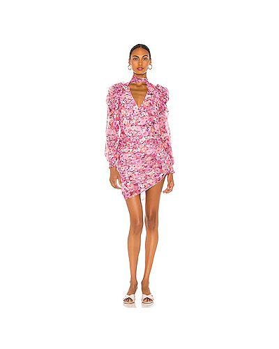 Фиолетовое шифоновое платье мини на молнии с оборками For Love & Lemons
