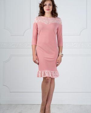 Платье с цветочным принтом с вырезом Lautus