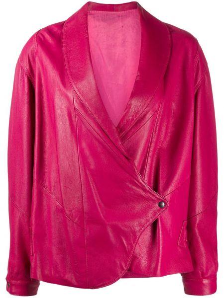 Розовая кожаная куртка винтажная A.n.g.e.l.o. Vintage Cult