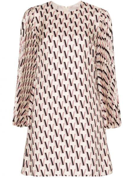 Платье мини атласное Valentino