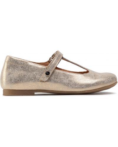 Туфли на липучках - золотые Froddo