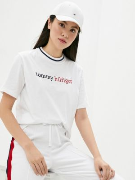 Белая футбольная домашняя футболка Tommy Hilfiger