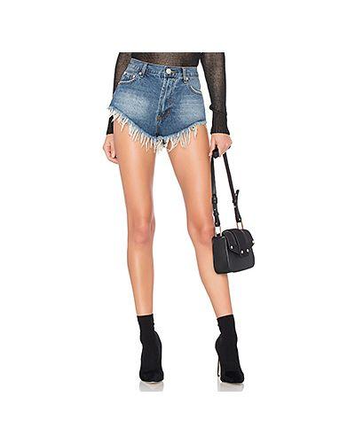 Джинсовые шорты с заниженной талией с подкладкой By The Way.
