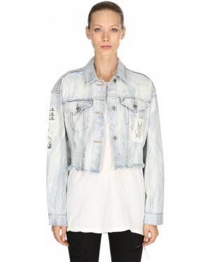 Синяя джинсовая куртка с воротником с карманами Ksubi