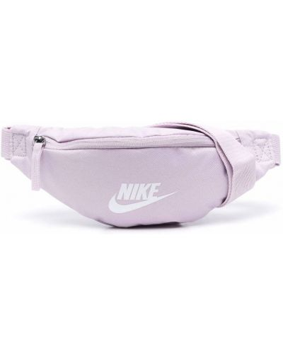 Biały pasek z paskiem z printem Nike