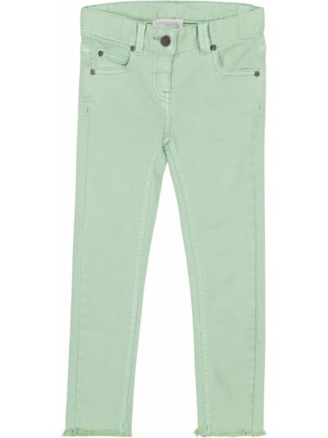 Хлопковые зеленые джинсы стрейч Stella Mccartney Kids