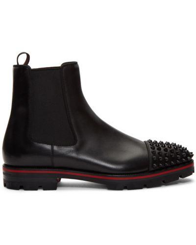 Треккинговые ботинки с высоким голенищем кожаные Christian Louboutin
