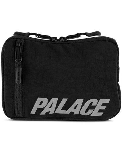 Czarny body z płótna z zamkiem błyskawicznym do biegania Palace