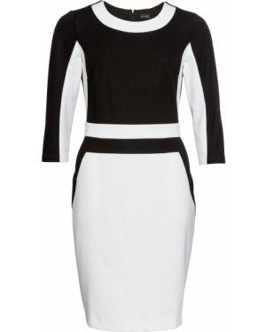 Облегающее платье с длинными рукавами с карманами Bonprix
