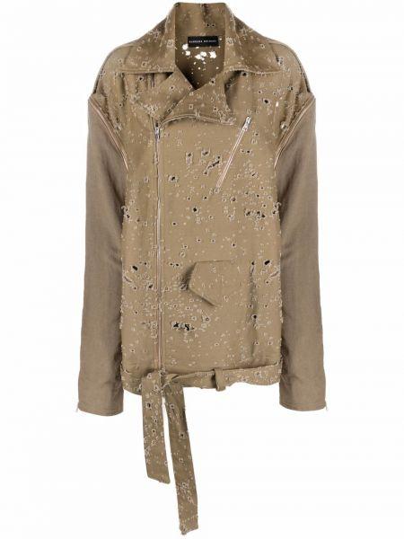 Ватная длинная куртка милитари болоньевая Barbara Bologna