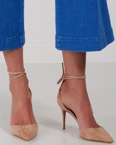 Туфли на высоком каблуке с открытым носком для офиса Aquazzura