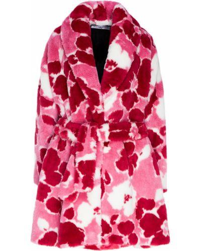 Пальто розовое кокон Balenciaga