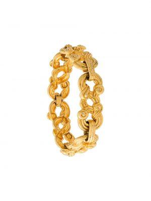 Желтый браслет металлический Sonia Rykiel Pre-owned
