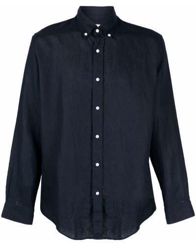 Niebieska lniana koszula Bluemint