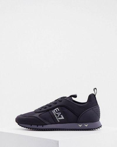 Черные текстильные кроссовки Ea7