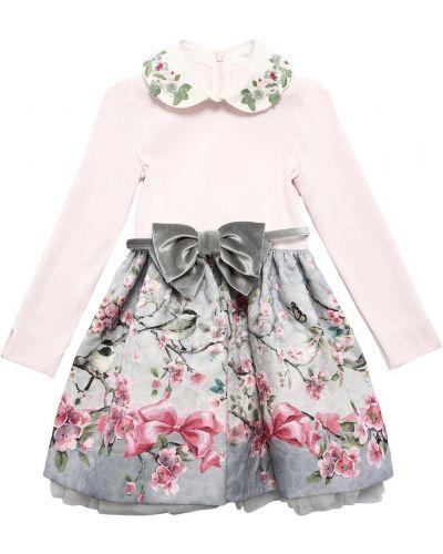 Трикотажное платье - розовое Monnalisa