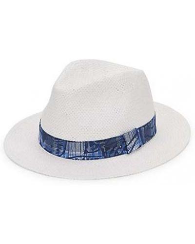 Соломенные шляпа-федора с вышивкой Saks Fifth Avenue Made In Italy
