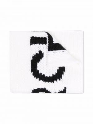 Biały szalik wełniany Mm6 Kids