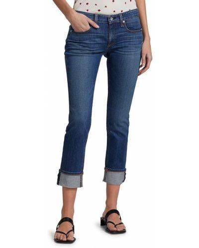 Niebieskie jeansy rurki bawełniane Rag & Bone