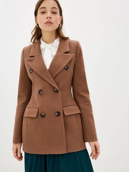 Коричневое пальто с капюшоном Theone By Svetlana Ermak